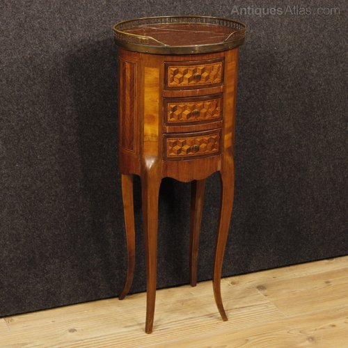 Antique Inlaid Marble Table : Antiques atlas french inlaid side table with marble top