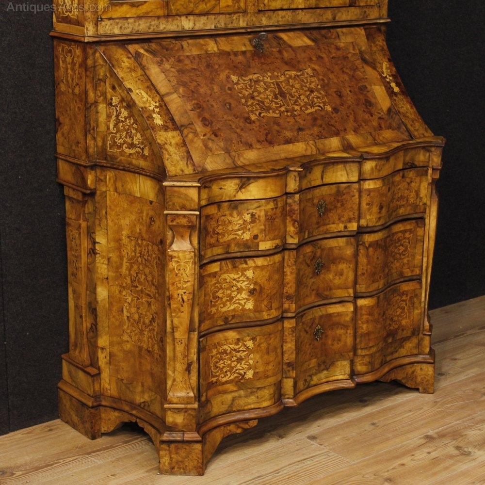 Antiques Atlas Italian Inlaid Trumeau In Walnut Burl