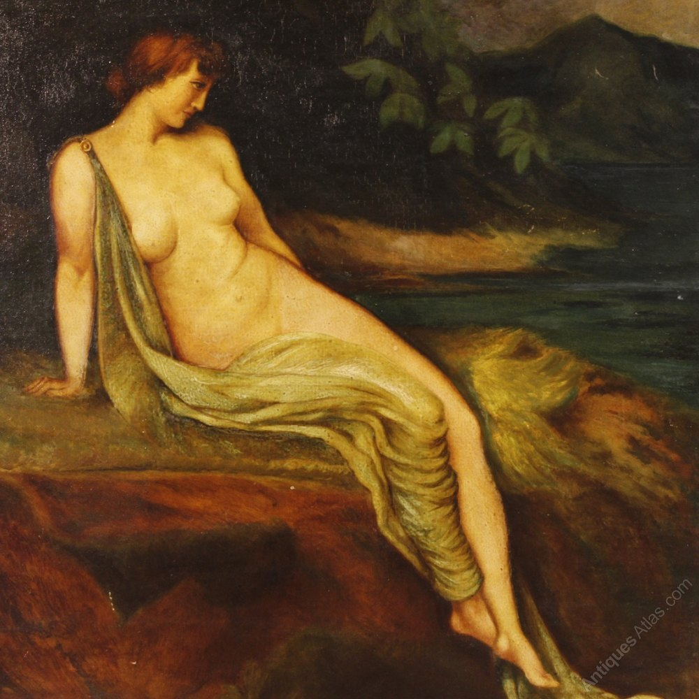 Antique nude painting