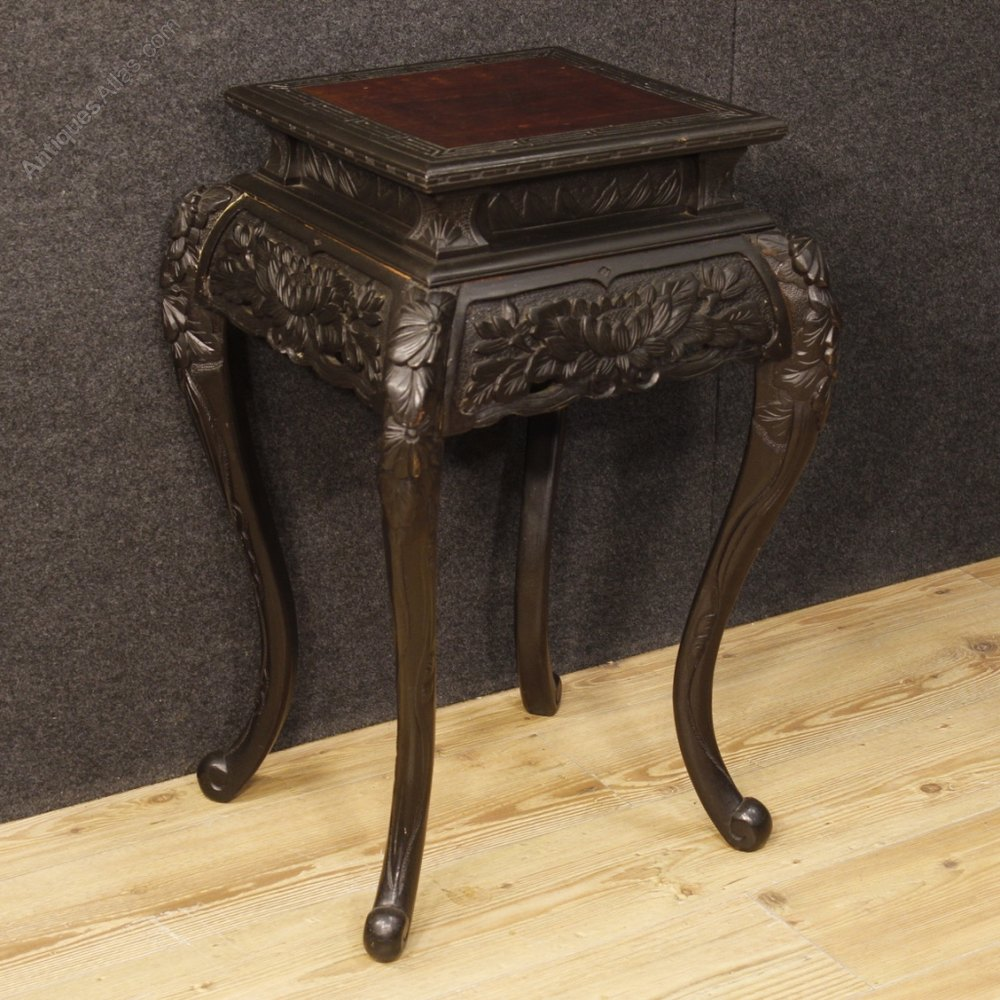 Antiques Atlas Oriental Living Room Side Table In Ebonized Wood