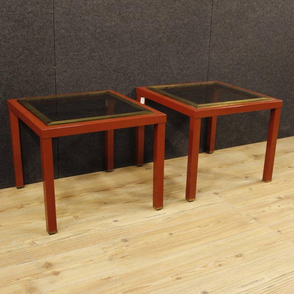 Antiques atlas pair of italian design coffee tables in metal for Italienische couchtische