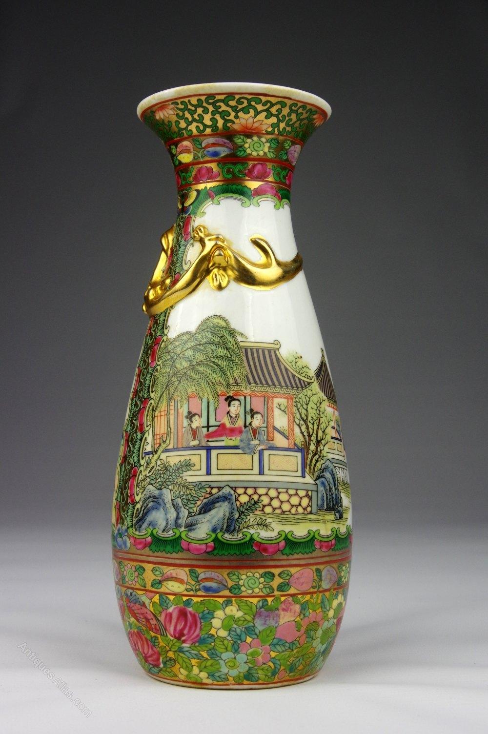 Antiques Atlas Oriental Hand Painted Vase