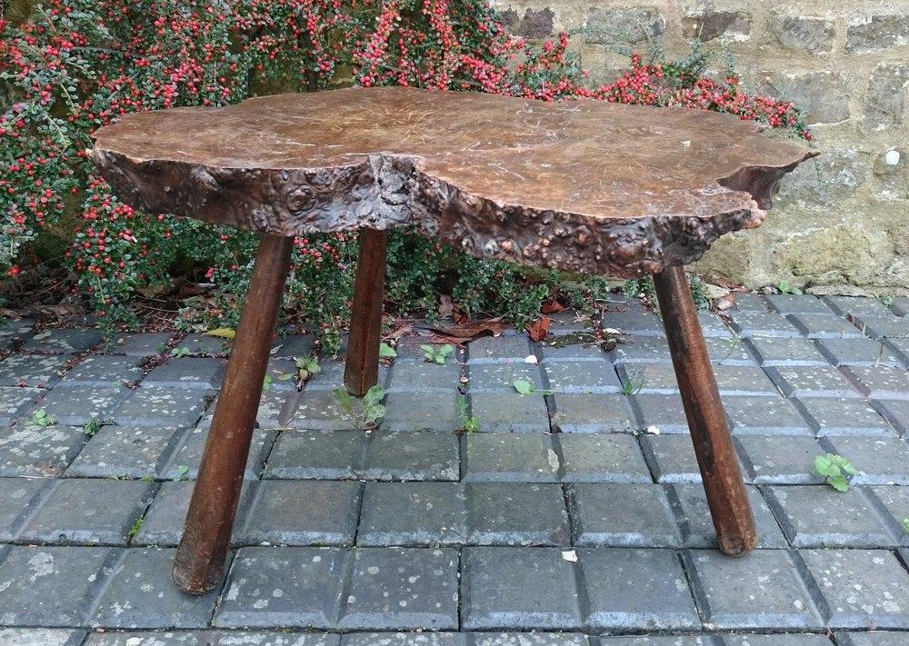 Burr Oak Table Antique Tripod Tables ...