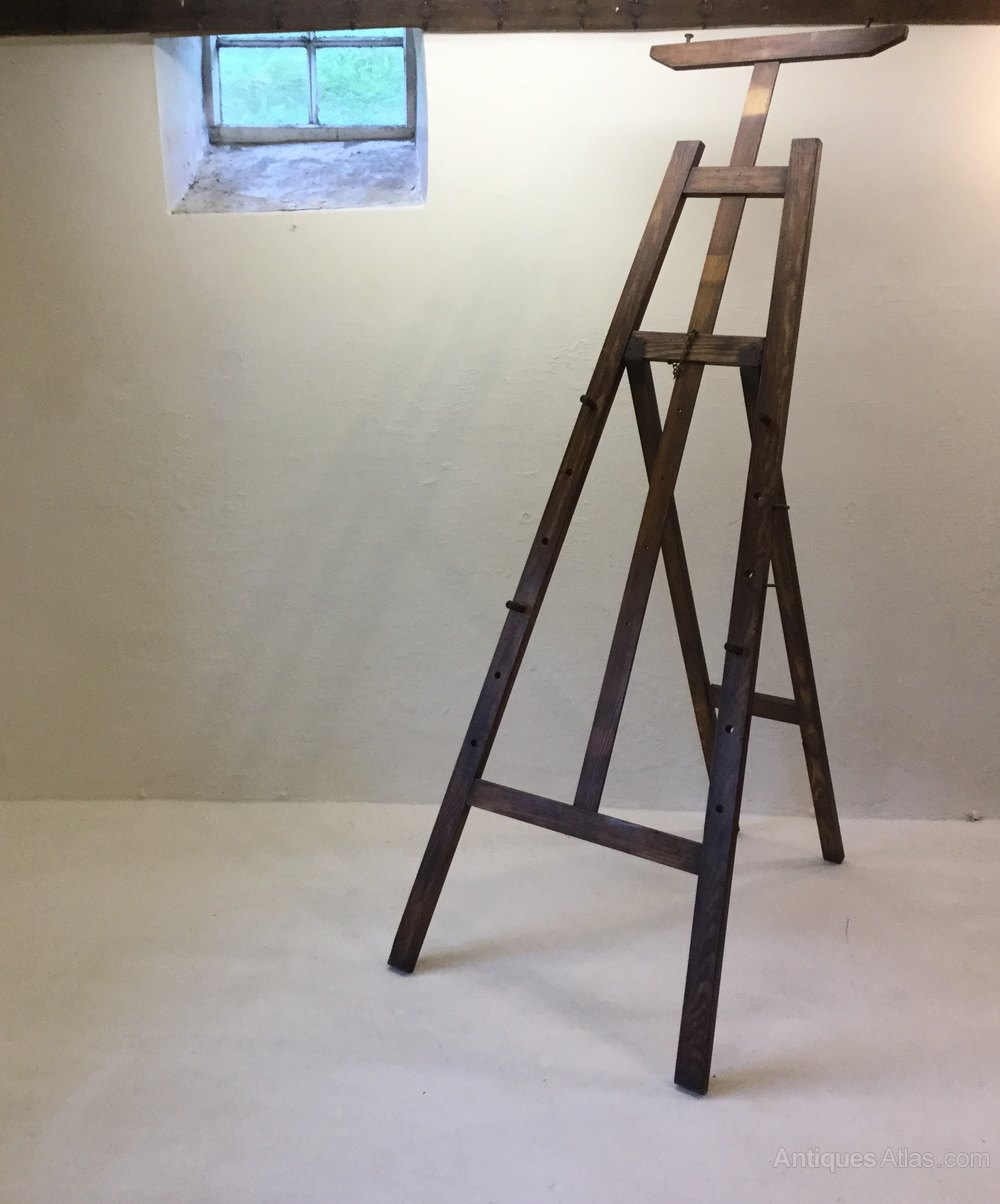 Antique 19th Century Artists Studio Easel ...