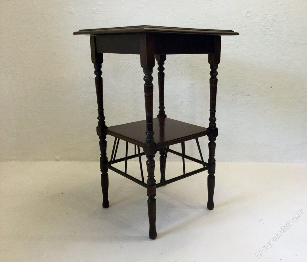 Antique E.W.Godwin Type English Walnut Lamp Table ...
