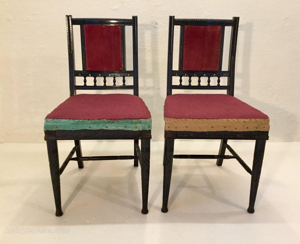 Antique Ebonised Aesthetic Chairs Bruce Talbert Antiques