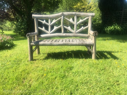 Astounding Antiques Atlas Rustic Picturesque Wooden Garden Bench Caraccident5 Cool Chair Designs And Ideas Caraccident5Info