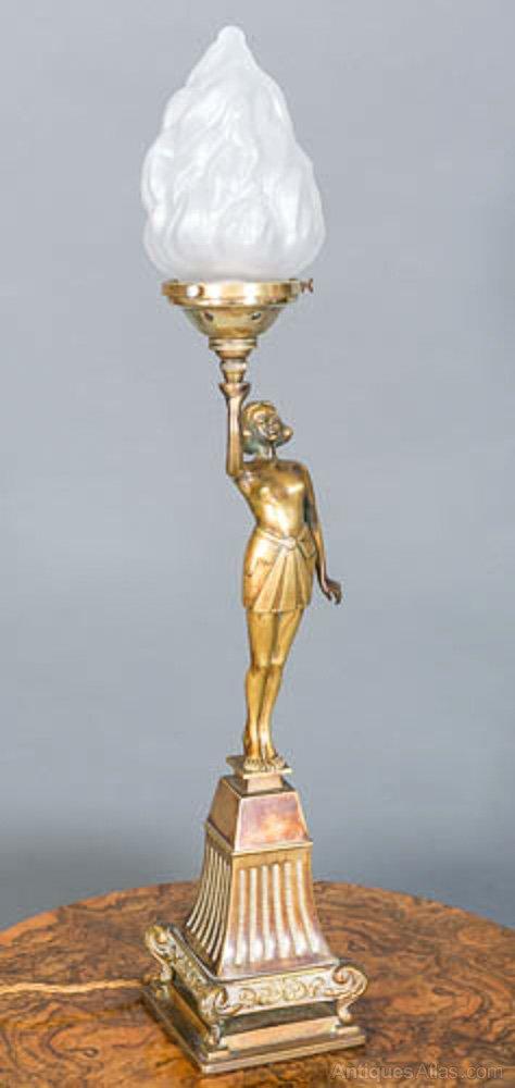 Antiques Atlas Art Deco Banksway Lady Lamp 1930s