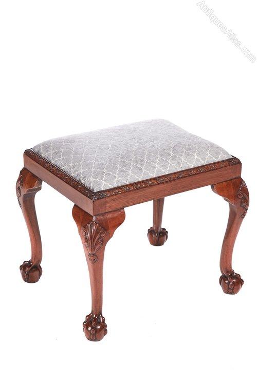 Fine Georgian Style Walnut Foot Stool Machost Co Dining Chair Design Ideas Machostcouk