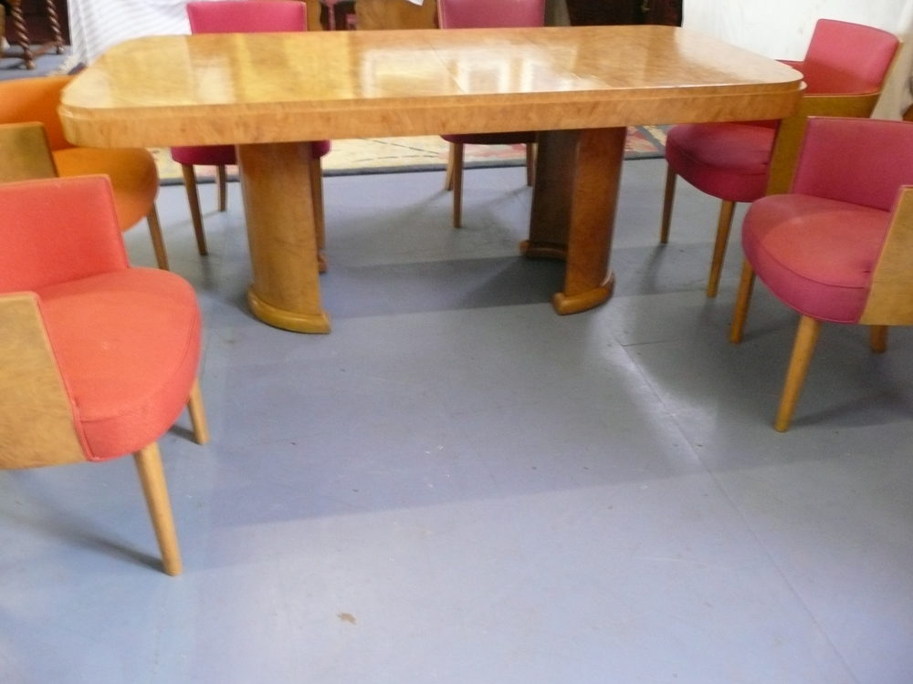 Hille Art Deco Dining Table And Chairs C 1930s Antiques