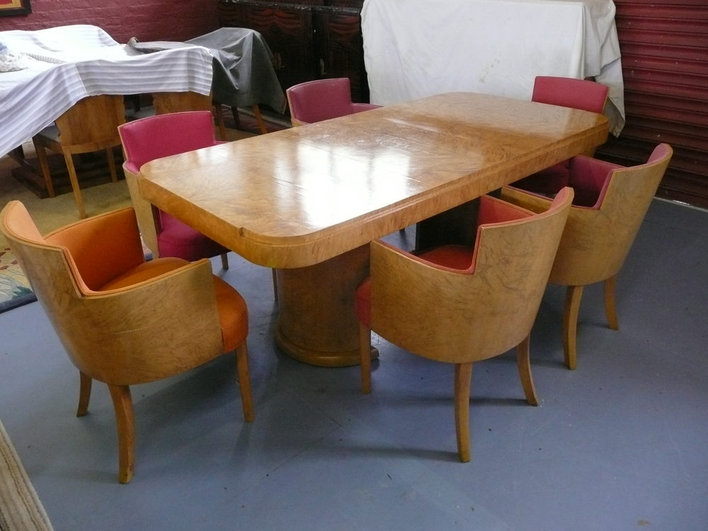Good Hille Art Deco Dining Table And Chairs C 1930s ...