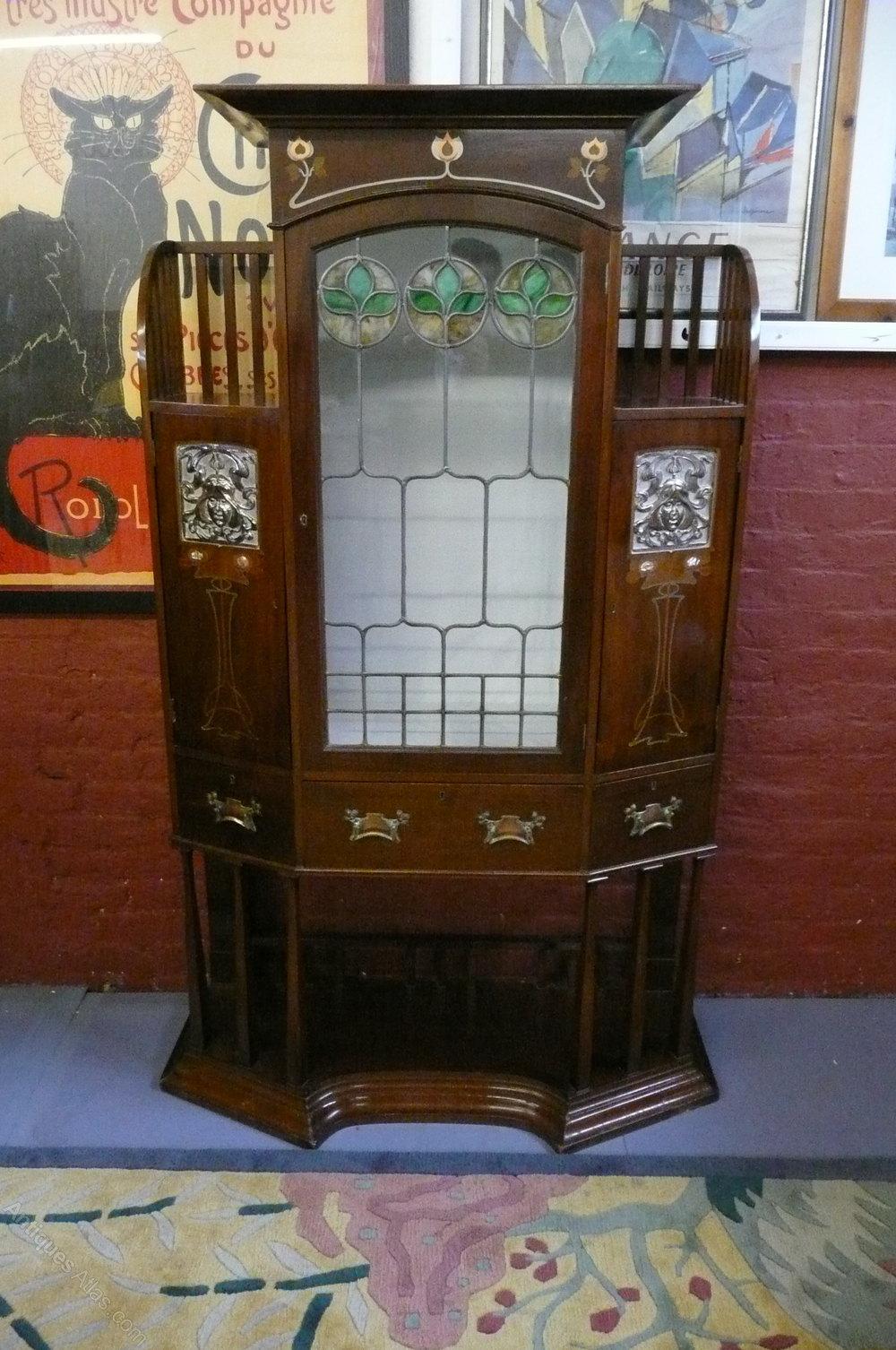 Stunning Art Nouveau Cabinet c 1890-1900 Antique ... - Stunning Art Nouveau Cabinet C 1890-1900 - Antiques Atlas