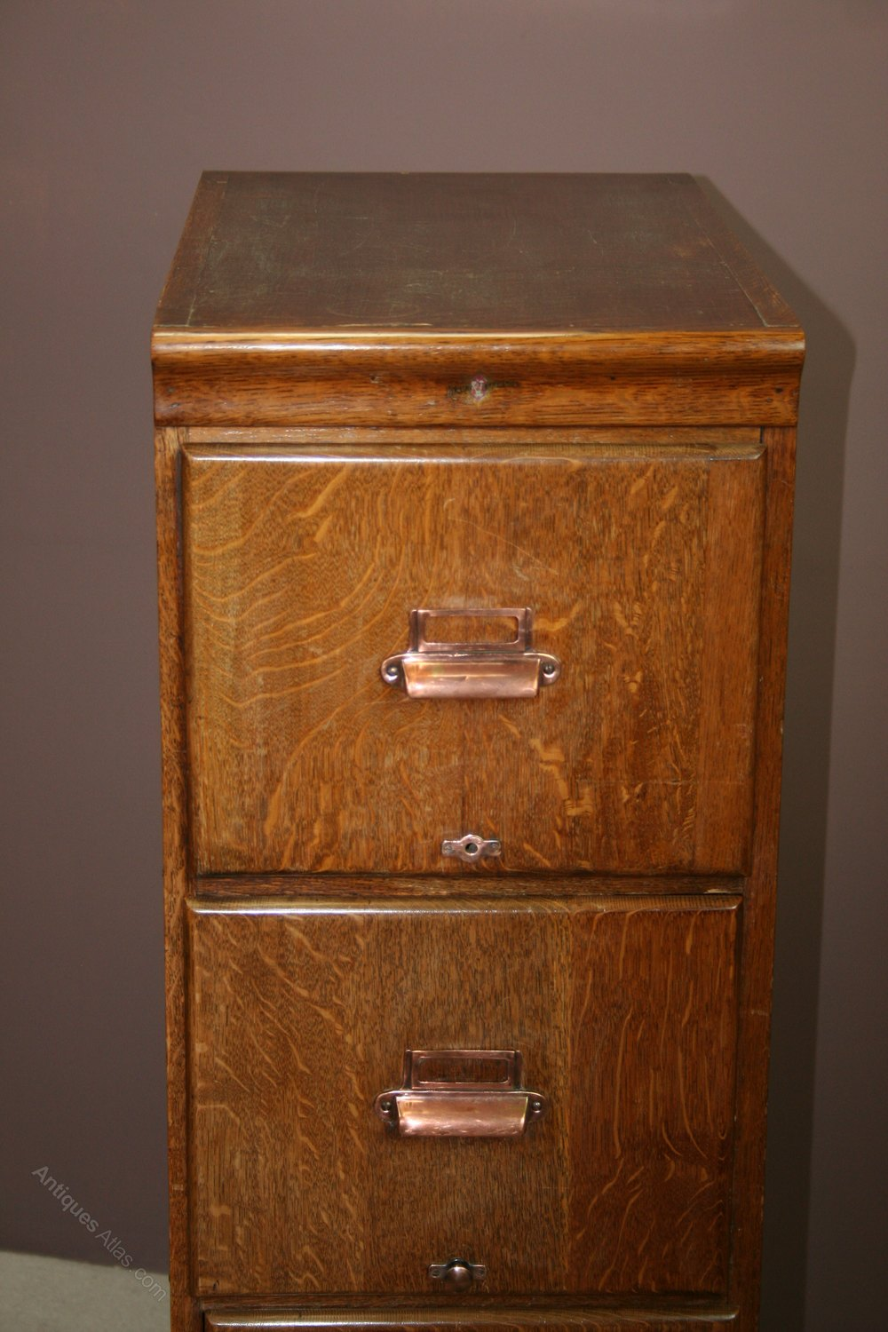 antique filing cabinet 1920 s oak 4 drawer filing cabinet antiques atlas 10641