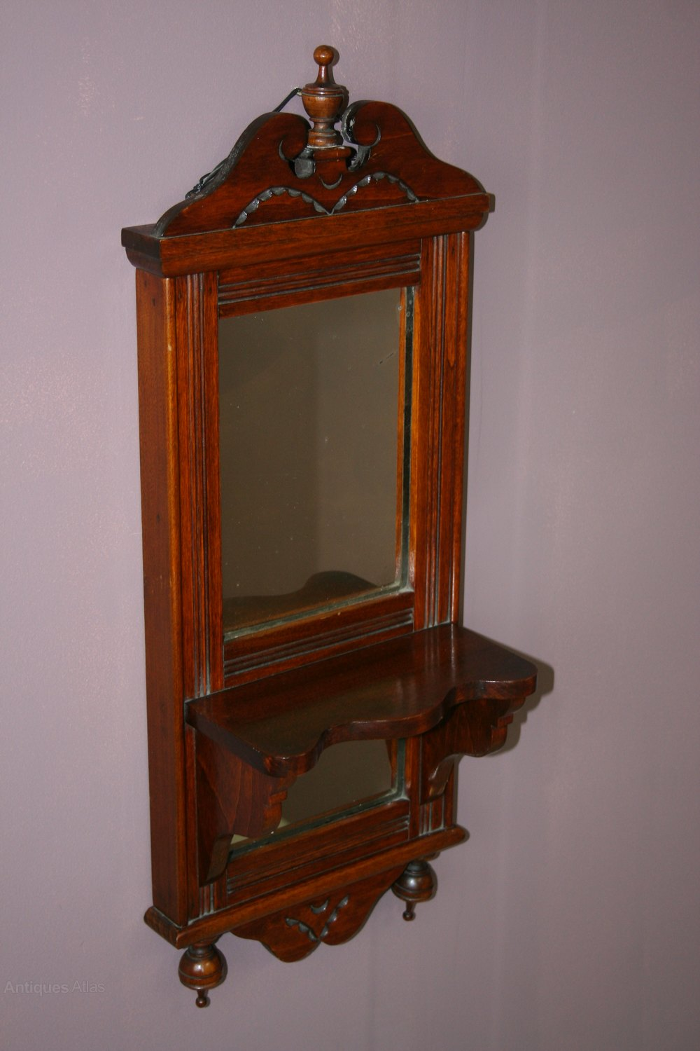 Antiques Atlas Victorian Wall Mounted Shaving Mirror