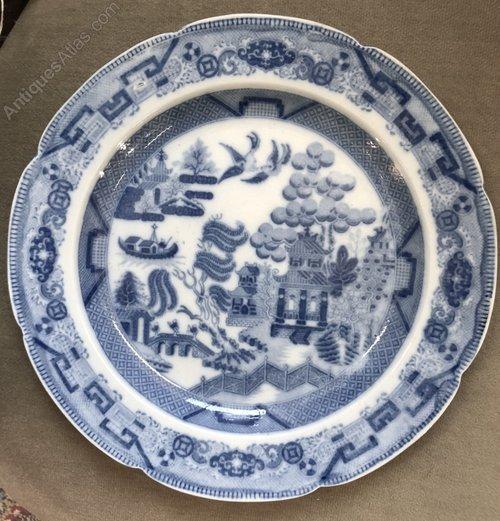 Rockingham Brameld Blue u0026 White Dinner Plate c1806 & Antiques Atlas - Rockingham Brameld Blue u0026 White Dinner Plate C1806