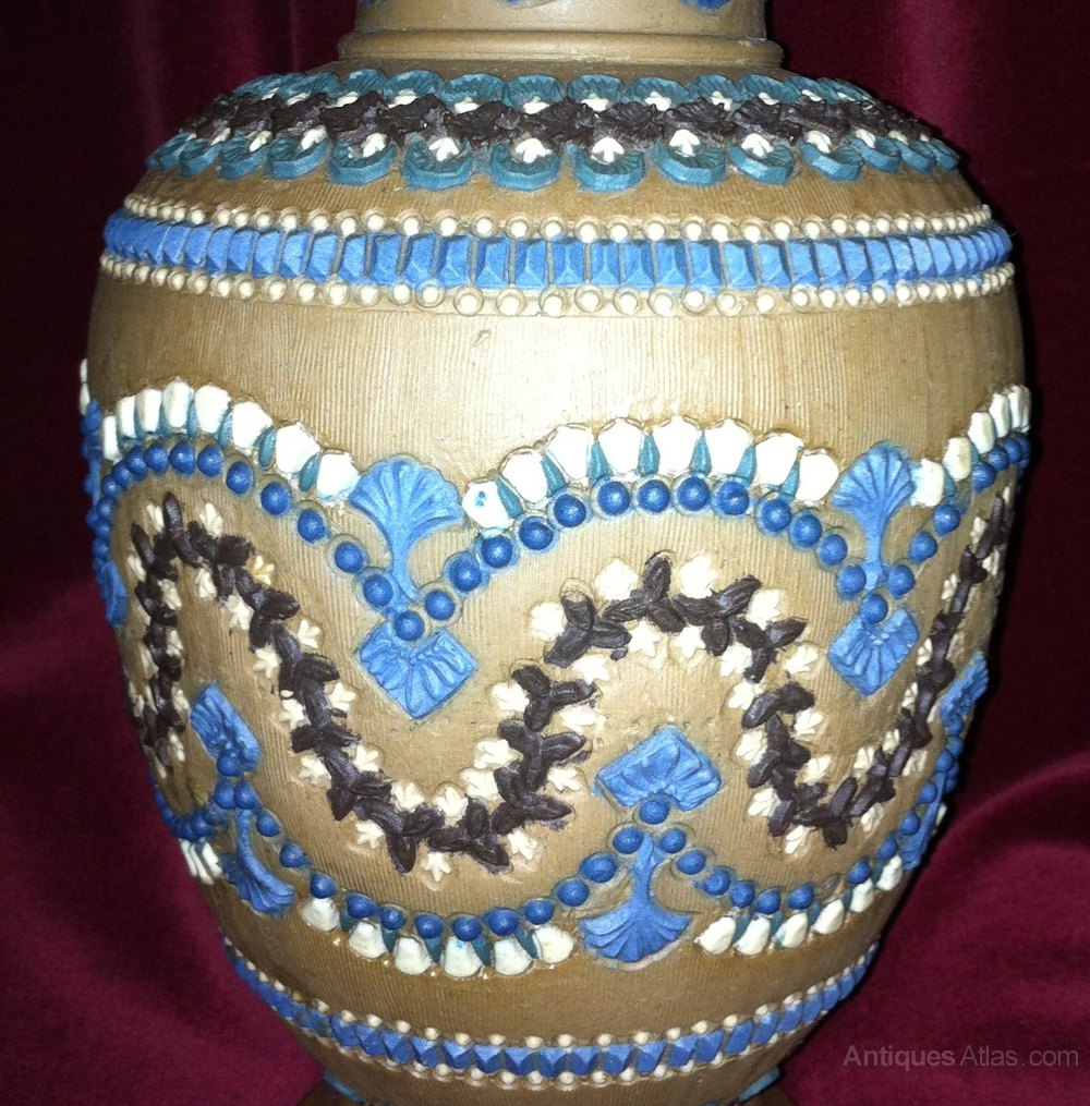 Antiques atlas early doulton silicon ware vase 1882 pottery vases jugs and plates doulton lambeth 1882 reviewsmspy