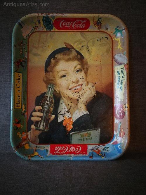 Antiques Atlas - Coca Cola Tray 1953