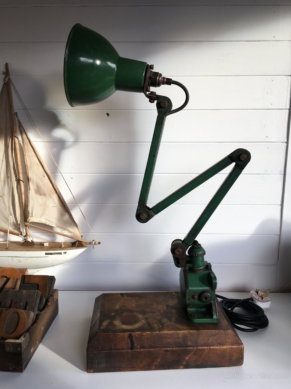 Antiques Atlas Industrial Anglepoise Workbench Lamp