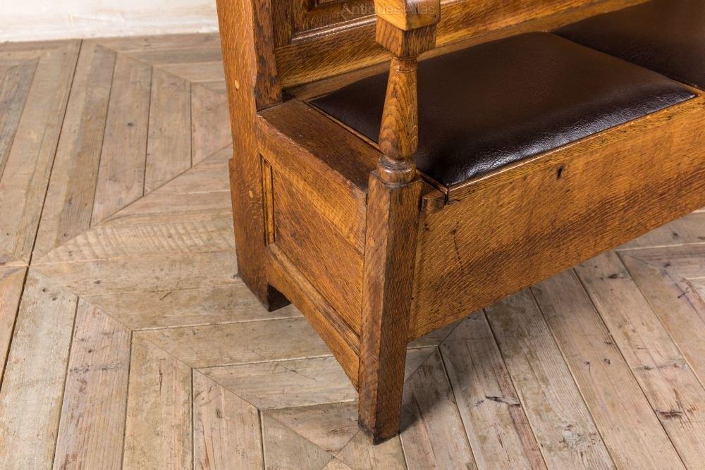 Antique Solid Oak Settle Pew Bench Antiques Atlas