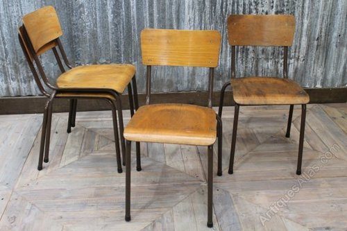 Antiques Atlas Brown Stacking Chairs