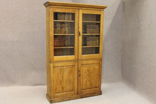 Edwardian Oak Bookcase Kitchen Cupboard