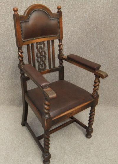 Edwardian Oak Carver Chair Antique ... - Edwardian Oak Carver Chair - Antiques Atlas