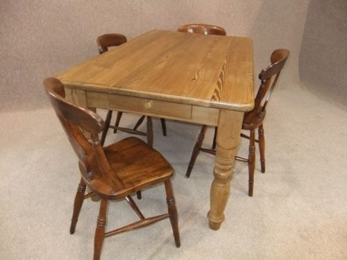 Edwardian Pine Farmhouse Table ...