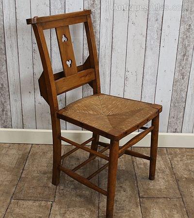 Edwardian Rush Seat Chapel Church Chair Antique ... - Edwardian Rush Seat Chapel Church Chair - Antiques Atlas