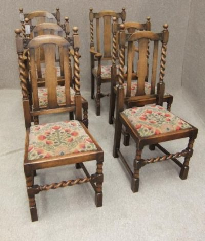 Pleasing Edwardian Solid Oak Barley Twist Dining Chairs Antiques Atlas Pabps2019 Chair Design Images Pabps2019Com