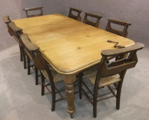 Extending Pine Victorian Table Antique Extending Dining ...