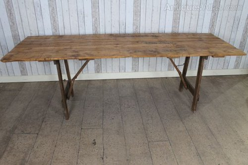 Prime Antiques Atlas Handmade Vintage Fold Away Trestle Table Pine Download Free Architecture Designs Intelgarnamadebymaigaardcom