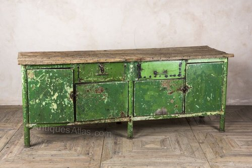 Antiques Atlas Industrial Green Metal Sideboard