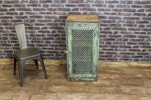 Industrial Side Cabinet Vintage Locker