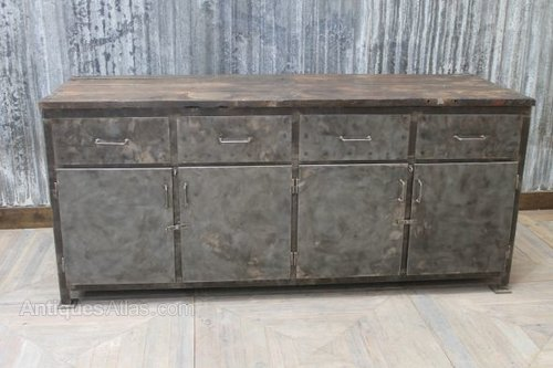 Antiques Atlas Large Industrial Metal Sideboard