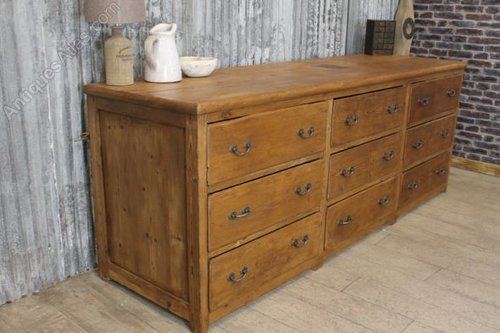 Large Victorian Pine Chest Of Drawers Antiques Atlas