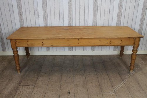 Large Victorian Pine Farmhouse Kitchen Dining Table Antiques Atlas