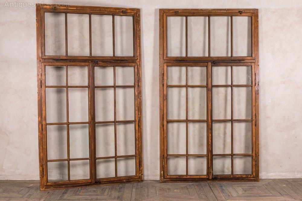 Antiques Atlas Large Vintage Wooden Frames Window Panes