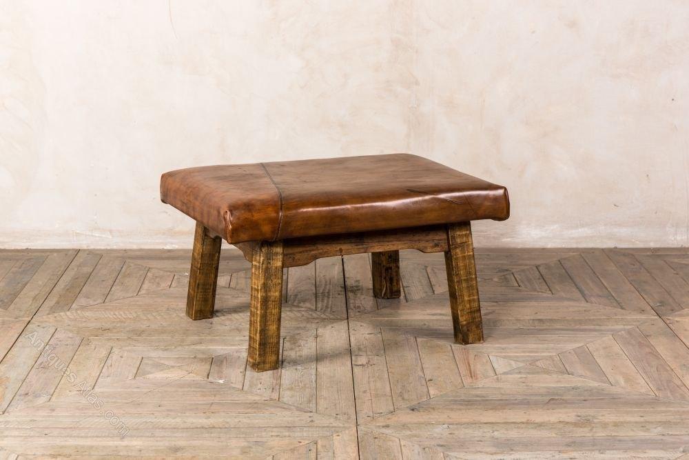leather top coffee table - Leather Top Coffee Table