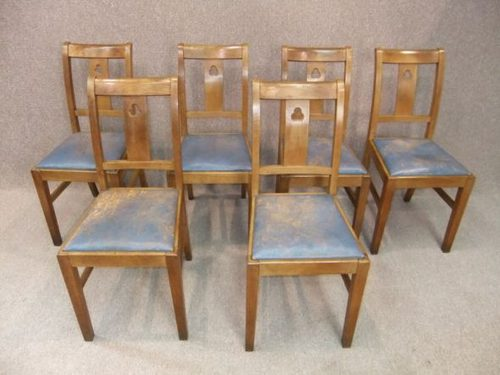 Oak Arts And Crafts Dining Chair Chair Sets of 14 Antique Dining Chairs ... - Oak Arts And Crafts Dining Chair - Antiques Atlas