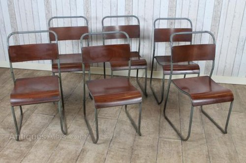 Original Vintage Pel Stacking Chairs School Chairs