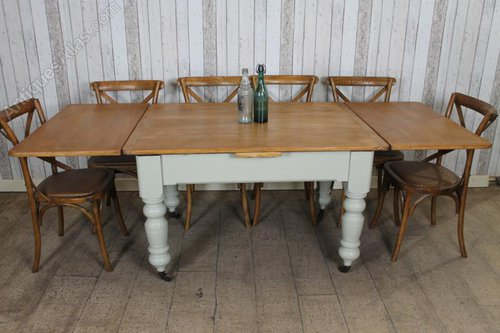 victorian pine extending kitchen dining table antiques atlas rh antiques atlas com extending kitchen table and chair sets extending kitchen tables uk