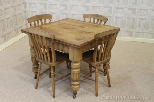 Victorian Pine Extending Table Kitchen Table - Antiques Atlas
