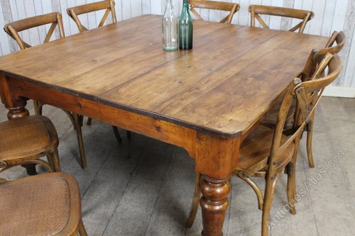 Victorian Pine Farmhouse Table Antique Farmhouse Tables ...