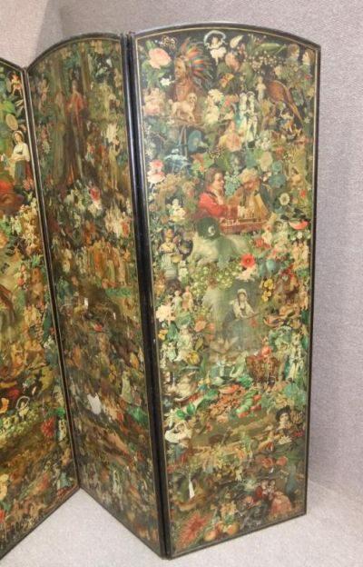 Victorian Folding Decoupage Dressing Screen Antiques Atlas