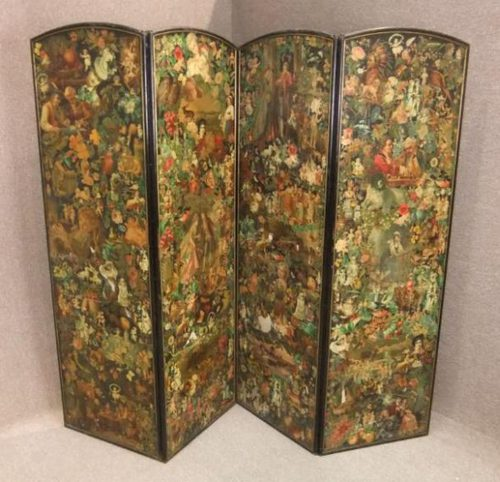 Victorian Folding Decoupage Dressing Screen Antiques Atlas