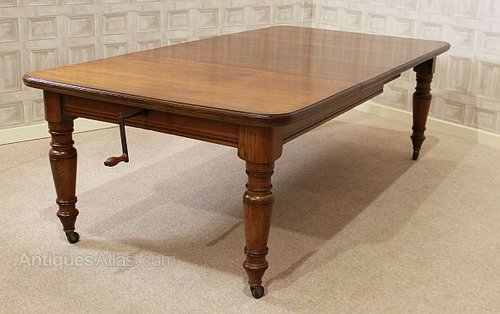 28bf1e4cf35c Victorian Oak Extending Dining Table - Antiques Atlas