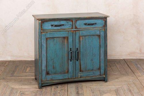 Antiques Atlas Vintage Blue Kitchen Cabinet