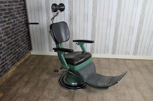 Vintage Dentist Chair Barbers Chair ... - Antiques Atlas - Vintage Dentist Chair Barbers Chair