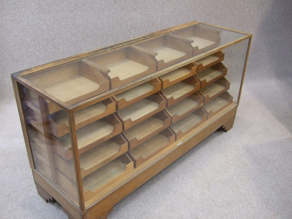 Vintage Haberdashery display cabinet ... - Antiques Atlas - Vintage Haberdashery Display Cabinet