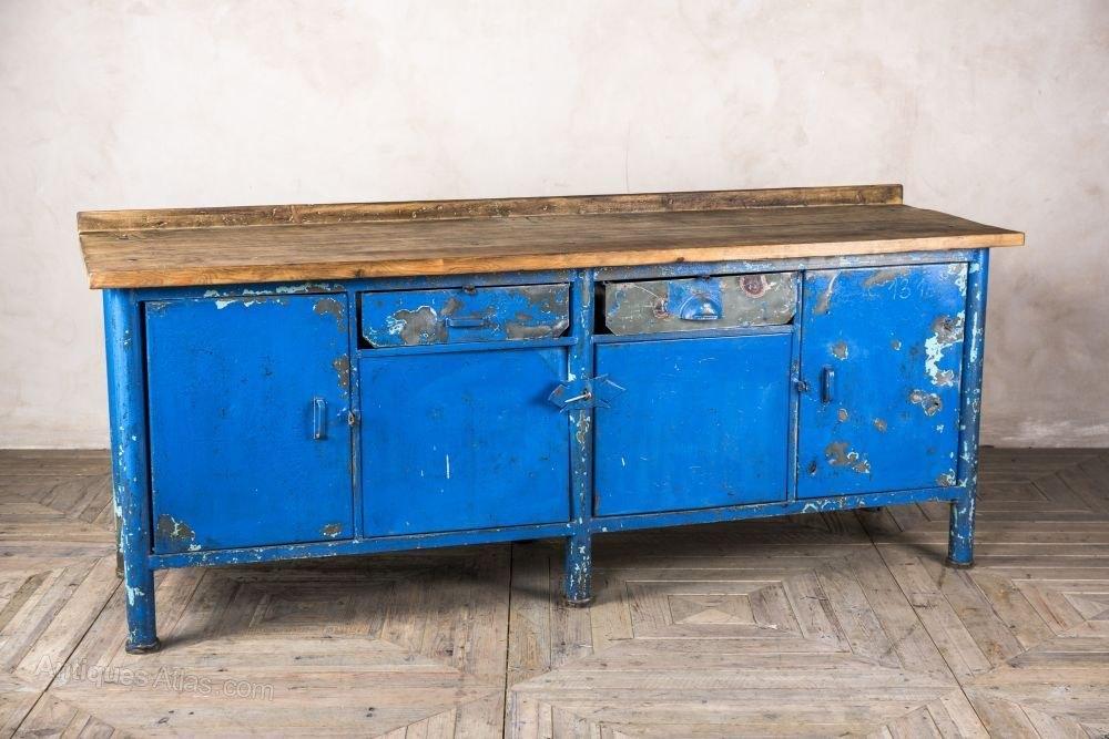 Antiques Atlas Vintage Industrial Blue Sideboard